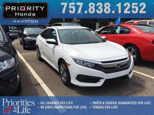 2016 honda civic lx in norfolk, va - priority ford