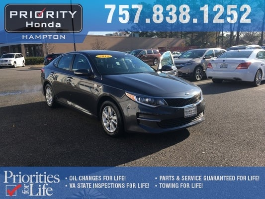 2018 Kia Optima Lx Lifetime Powertrain Warranty In Norfolk Va Kia